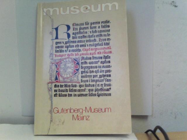 Museum. Gutenberg - Museum Mainz