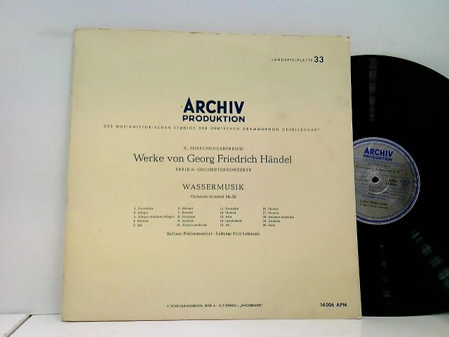 Berliner Philharmoniker, Fritz Lehmann – Wassermusik Orchester-Konzert Nr. 25