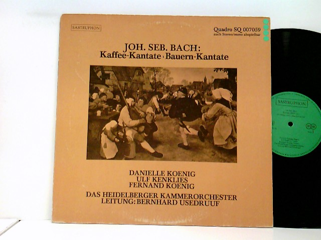 Heidelberger Kammerorchester, Bernhard Usedruuf – Kaffee-Kantate, Bauern-Kantate