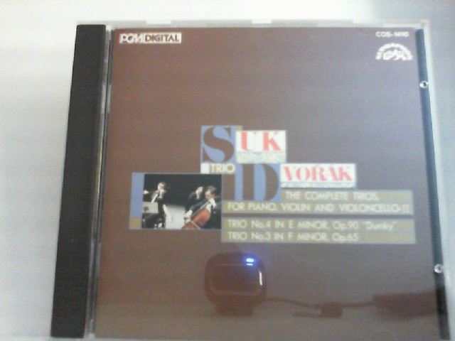 "Suk Trio Dvorak  "" The complete Trios For Piano, Violin, Violeoncello "" "" TRIO No.4 in E Minor Op.90 Dumky "" TRIO No.3 in F Minor. Op 65"