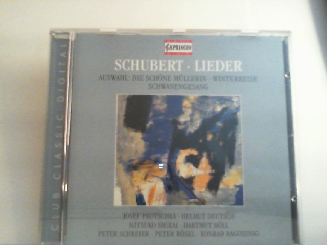 Protschka, Josef, Helmut Deutsch Peter Schreier a. o.: Schubert Lieder