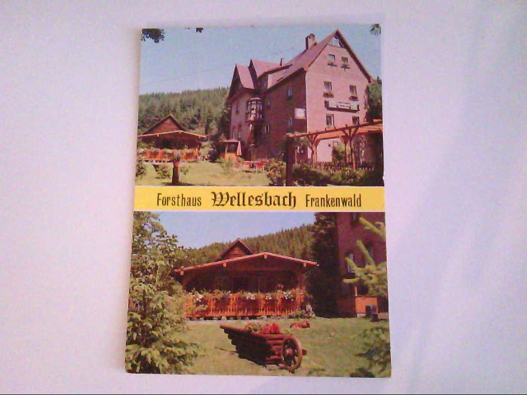 "Forsthaus ""Wellesbach"". Frankenwald. Zweibildkarte. AK."