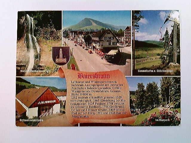 Baiersbronn, 5 Ansichten, Ortsbeschreibung, AK, gelaufen 1986