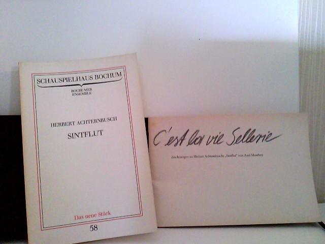 """Konvolut: Sintflut. Programmbuch Schauspielhaus Bochum Kammerspiele 1984/85 plus die Beilage zum Programmbuch. Herbert Achternbusch """" Sintflut """" Das neue Stück 58 1. Auflagen"""