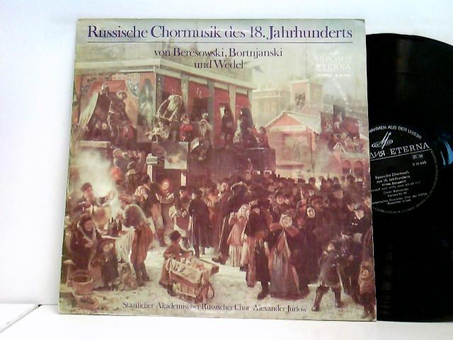 Akademischer Chor Der RSFSR* Künstlerischer Leiter Alexander Jurlow: Russische Chormusik Des 18. Jahrhunderts