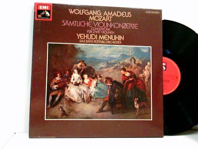 Mozart, Wolfgang Amadeus: Yehudi Menuhin, Das Bath Festival Orchester* – Sämtliche Violinkonzerte