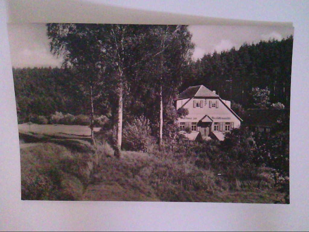 """HO - Waldhaus """" Meuschkensmühle """". Mühltal / Thüringen. AK."""