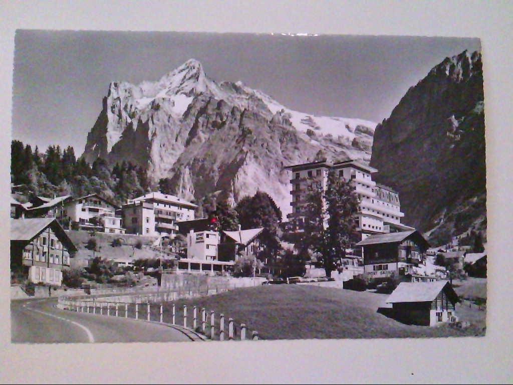 Grindelwald. Schweiz. Hotel Jungfrau und Hotel Belvédère. AK.