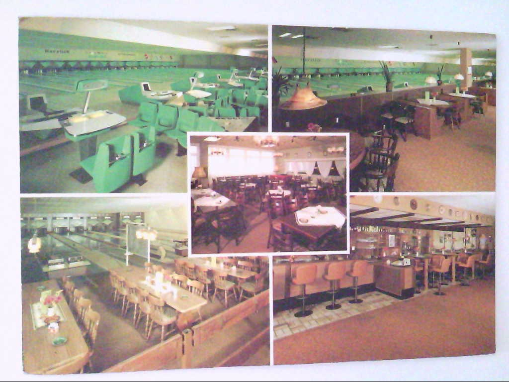 Cosmos. Bowling. Wiesbaden. Mehrbildkarte mit 5 Abb. AK.
