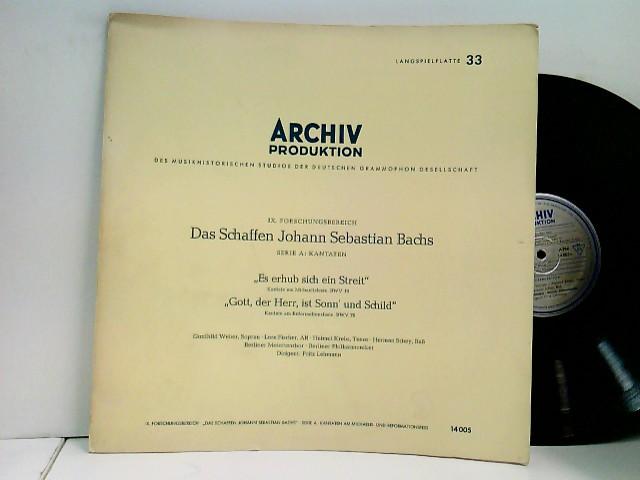 """Gunthild Weber, Lore Fischer, Helmut Krebs, Herman Schey*, Berliner Motettenchor, Berliner Philharmoniker, Fritz Lehmann – """"Es Erhub Sich Ein Streit"""" - Cantata for Michaelmas Day, BWV 19 / """"Gott, der Herr, ist Sonn"""