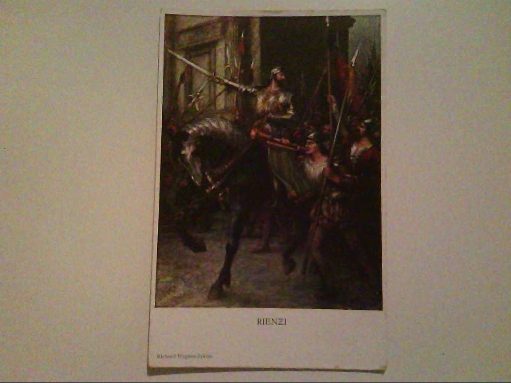 Rienzi. Richard - Wagner - Zyklus. Kunstkarte. Nach Originalgemälde von Ferd. Lecke. AK.