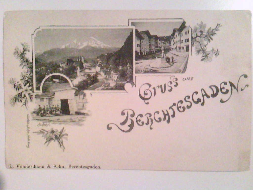 Berchtesgarden. Ausfahrt. Marktplatz. Würthle & Sohn. Salzburg. AK.