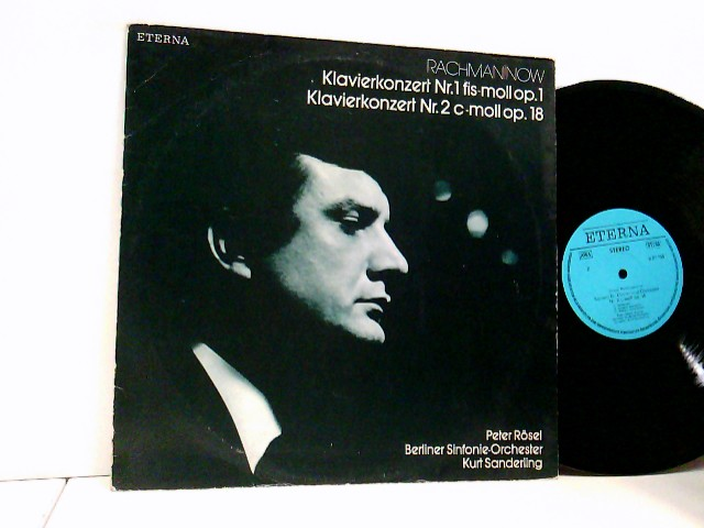 Rachmaninow, Sergej: Rachmaninow*, Peter Rösel, Berliner Sinfonie-Orchester*, Kurt Sanderling – Klavierkonzert Nr. 1 Fis-moll Op. 1 / Klavierkonzert Nr. 2 C-moll Op. 18