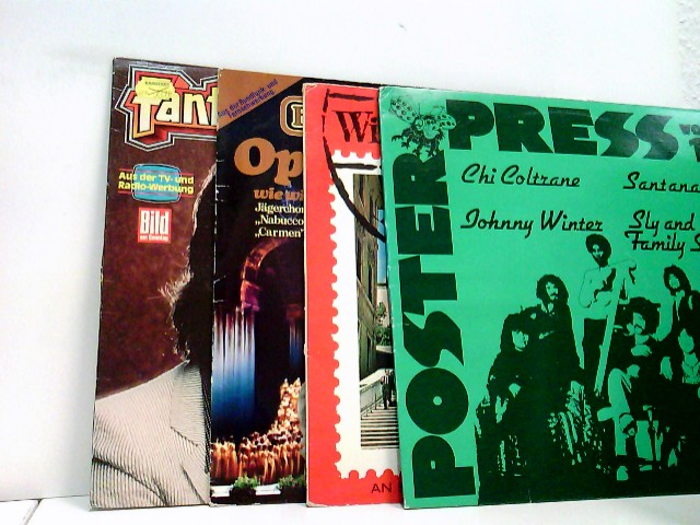 4 Platten / Orchester Anthony Ventura – Fantastic Dance Party / Fischer Chöre – Opernmelodien / Various – With Love From Rome / Various – Poster Press Vol. 1