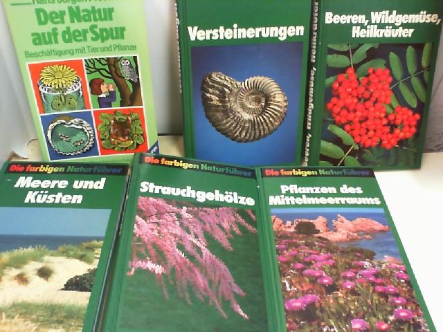 Konvolut bestehend aus 6 Bänden zum Thema: Die farbigen Naturführer und 1x Der Natur auf der Spur.