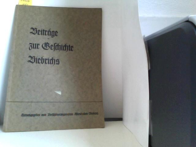 Beiträge zur Geschichte Biebrichs.