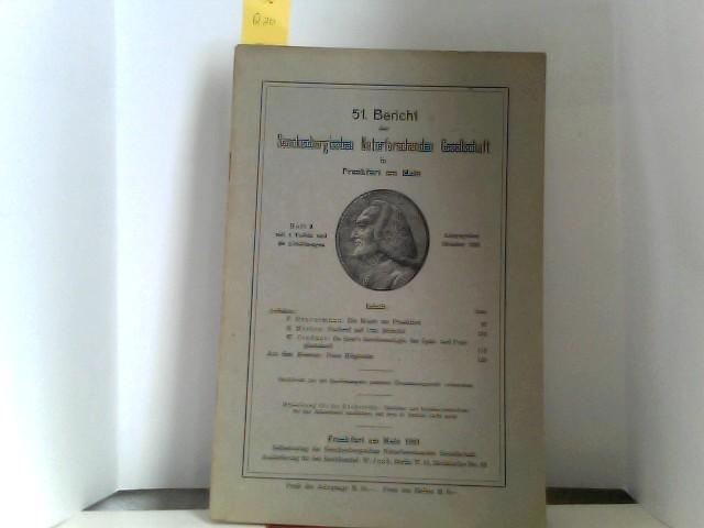 51. Bericht der Senckenbergischen Naturforschenden Gesellschaft in Frankfurt am Main Heft 3