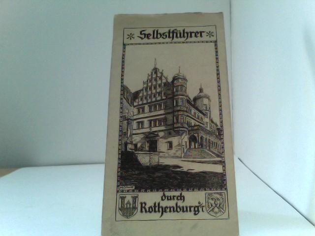 """Faltblatt """"Selbstführer durch Rothenburg o. Tauber"""" 2. Auflage"""