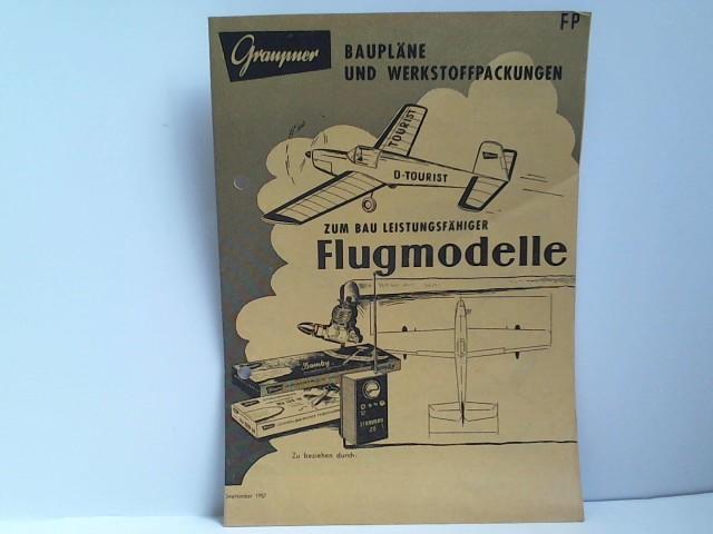 Zum Bau Leistungsfähiger Flugmodelle, Bau Leistungsfähiger Flugmodelle, September 1957,