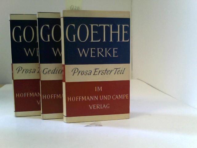 Goethe Werke. Prosa erster Teil, Prosa zweiter Teil und Gedichte & Epen Band 2, 3 und 4