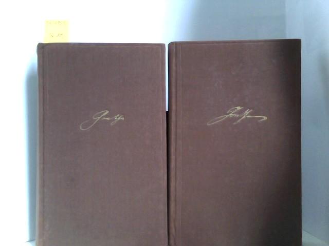 Goethe Auswahl in drei Bänden . Erster Band: Der junge Goethe und Dritter Band: Der alte Goethe 41.-52 Tausend