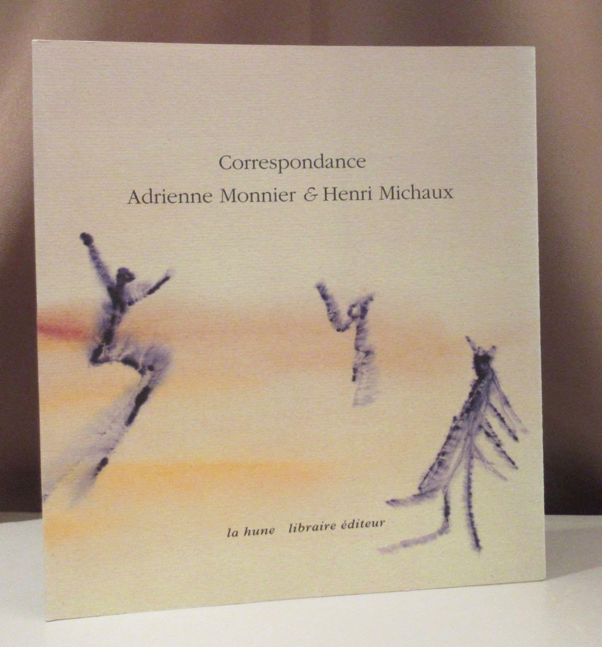 Correspondance Adrienne Monnier & Henri Michaux. 1939 - 1955. Établie et présentée par Maurice Imbert. - Michaux, Henri.