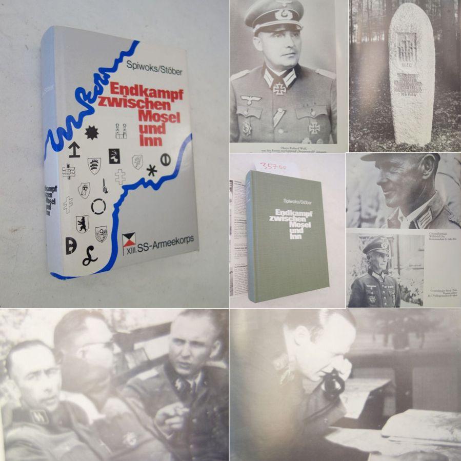 Endkampf zwischen Mosel und Inn XIII. SS-Armeekorps, mit O r i g i n a l - S c h u t z u m s c h l a g *  W a f f e n   -  S S - Spiwoks / Stöber
