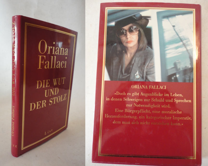 Die Wut und der Stolz * mit O r i g i n a l - S c h u t z u m s c h l a g - Fallaci, Oriana