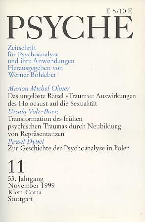 Psyche. Zeitschrift für Psychoanalyse und ihre Anwendungen. Heft 11 November 1999