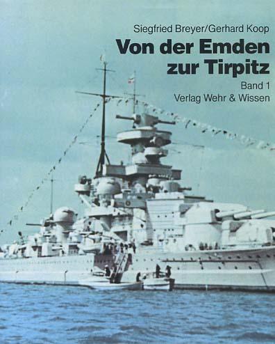 Von der Emden bis zur Tirpitz; Bd. 1, Linienschiffe, Schlachtschiffe, Panzerschiffe und Flugzeugträger / [Schiffsskizzen von Franz Mrva] 2., korr. Aufl.