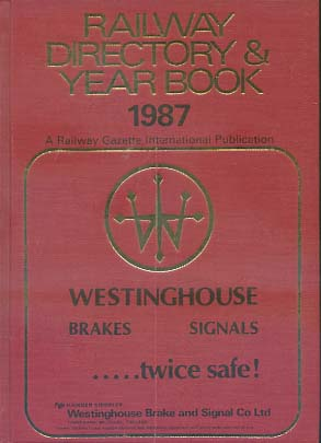 Railway directory and year book Railroad gazette international Publication 1987
