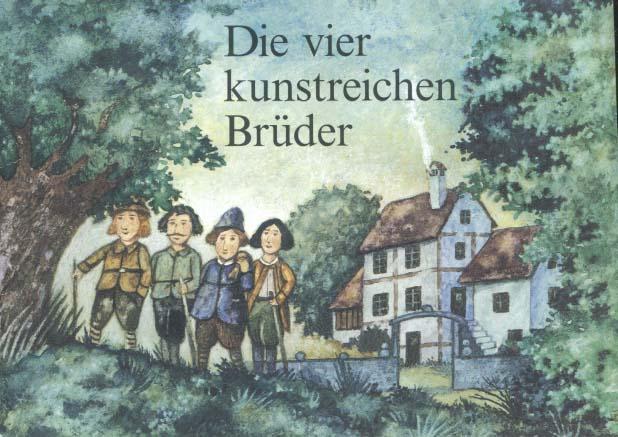 Die vier kunstreichen Brüder : aus Grimms Märchen. [hrsg. von der SBS Schweizerische Bibliothek für Blinde und Sehbehinderte]. Ill. von Jürg Obrist