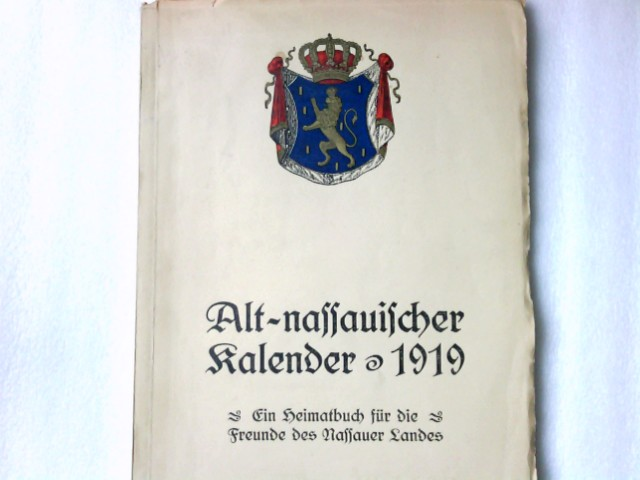 Alt-nassauischer Kalender - 1919.