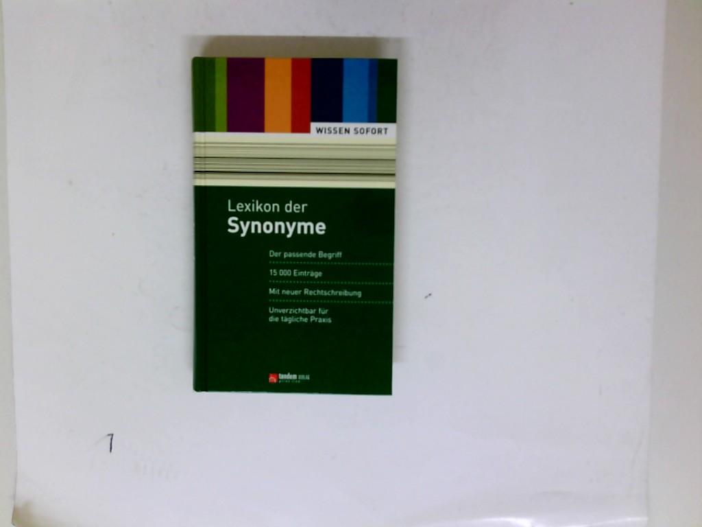 Lexikon der Synonyme - 15 000 Einträge