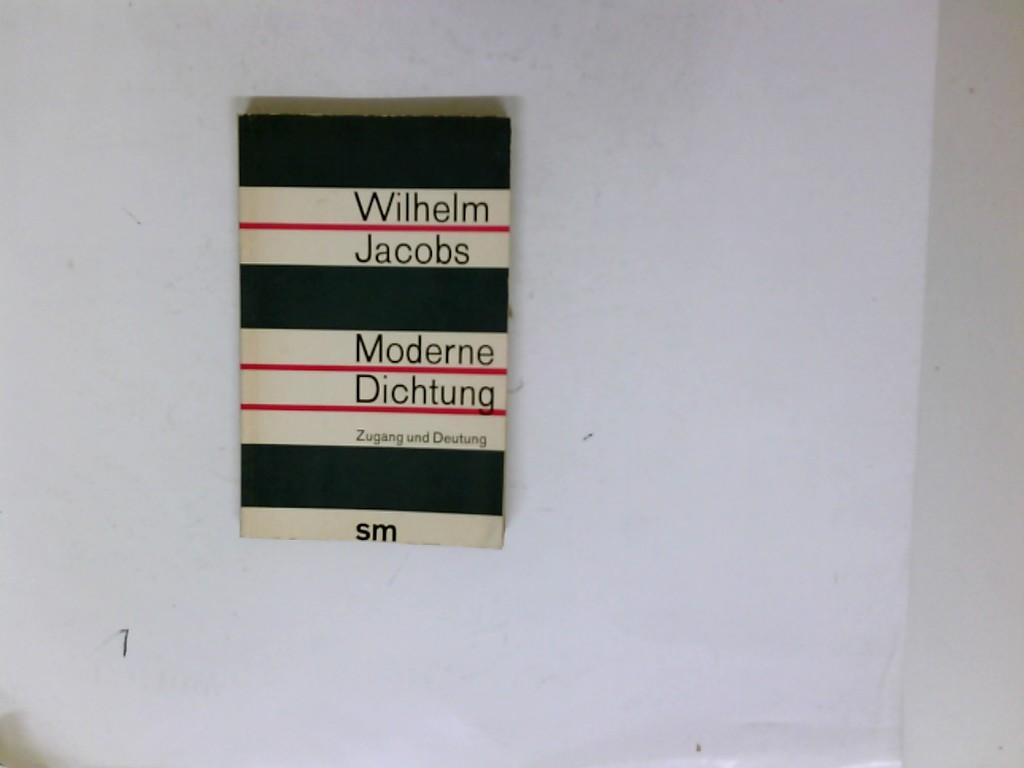 Moderne Dichtung. Zugang und Deutung
