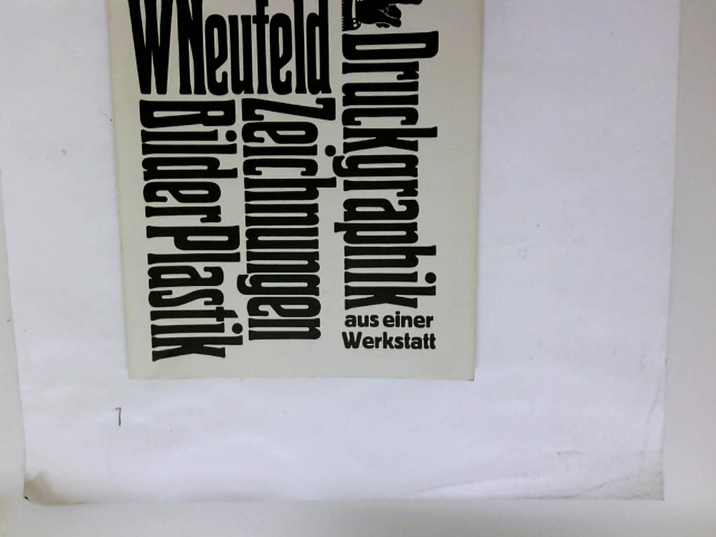 Druckgraphik, Zeichnungen, Bilder, Plastik aus einer Werkstatt.