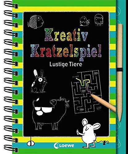 Kreativ-Kratzelspiel : Lustige Tiere. Kreativ-Kratzelbuch