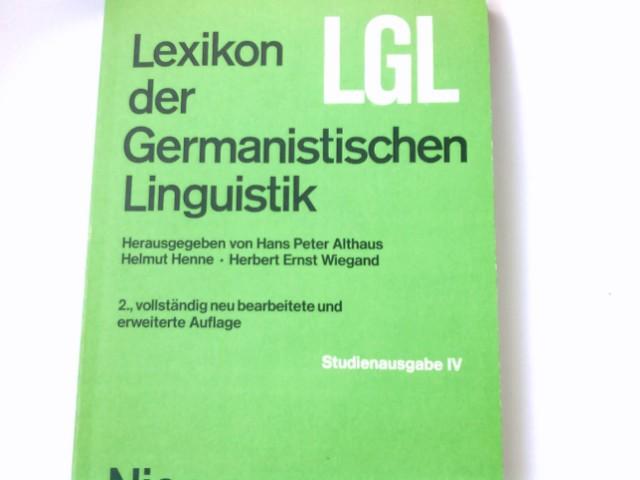 Lexikon der germanistischen Linguistik; Teil: 4. 2., vollst. neu bearb. u. erw. Aufl.