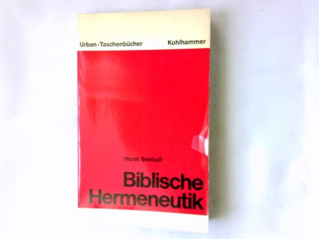 Biblische Hermeneutik. Urban-Taschenbücher ; Bd. 199
