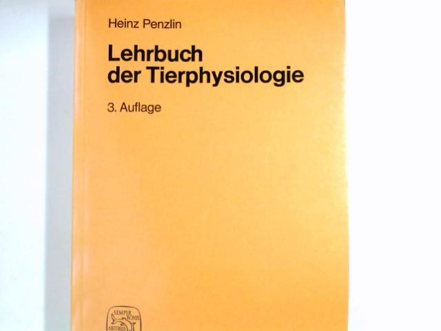Lehrbuch der Tierphysiologie. von 3., überarb. u. erg. Aufl.