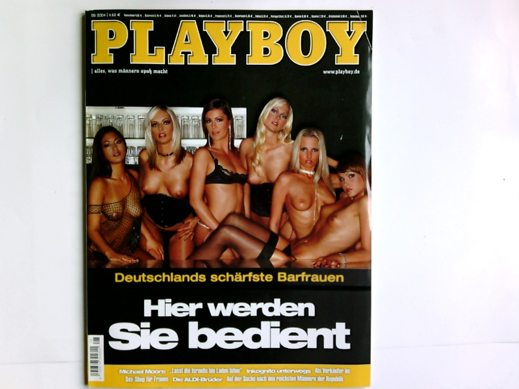 Playboy 8/2004,  alles, was Männern Spaß macht , mit Playmate -Poster