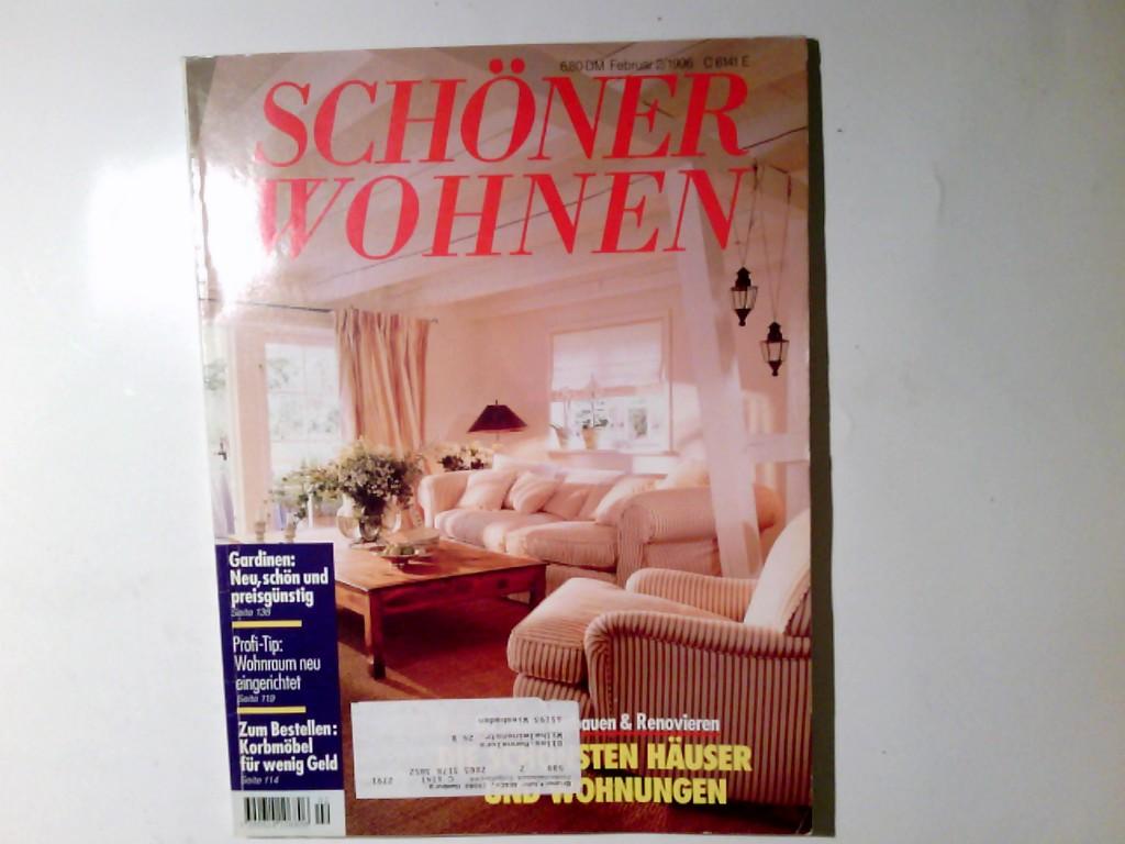 Schöner Wohnen. Monatszeitschrift.  Februar 2/1996