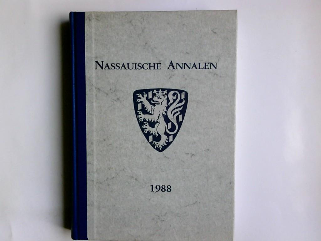 Nassauische Annalen Band 99, 1988, Jahrbuch des Vereins für Nassauische Altertumskunde und Gechichtsforschung