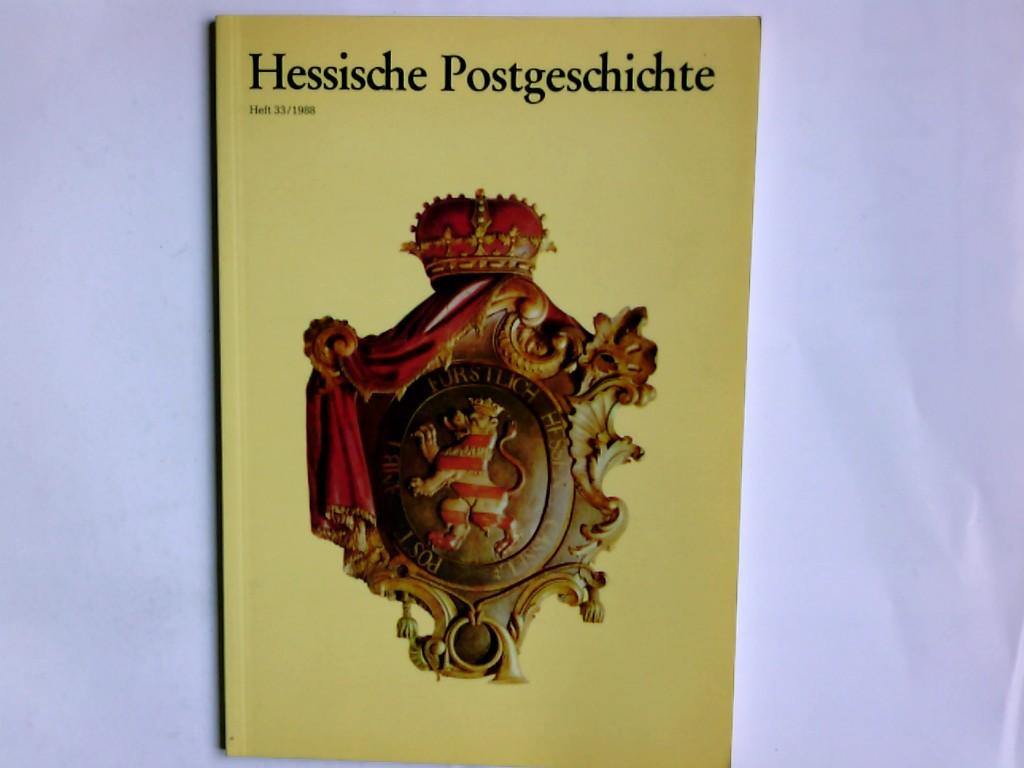 Hessische Postgeschichte Heft 33/1988