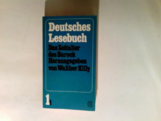 Deutsches Lesebuch  Band. 1,1., Das Zeitalter des Barock. Neuausg.  Fischer-Bücherei ; 990