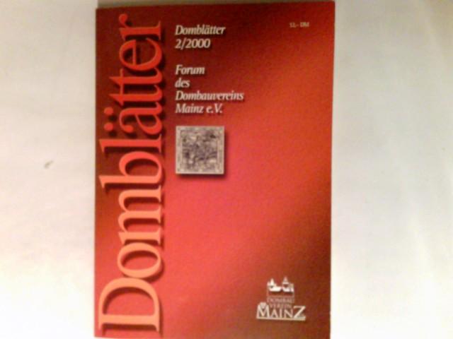 Domblätter : Forum des Dombauvereins Mainz e.V. 2/2002