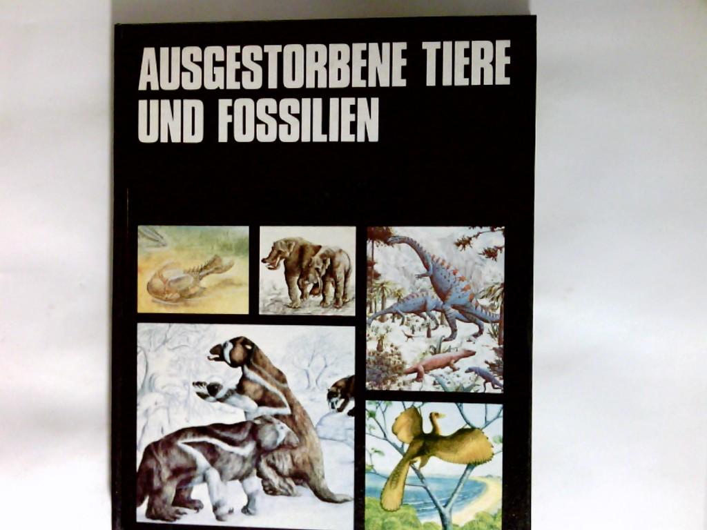 Ausgestorbene Tiere und Fossilien.