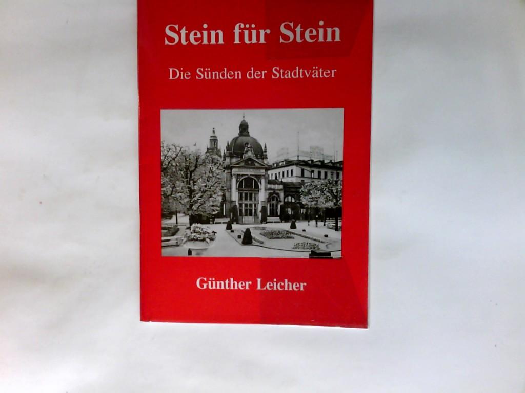 Leicher, Günther (Verfasser): Stein für Stein : die Sünden der Stadtväter.