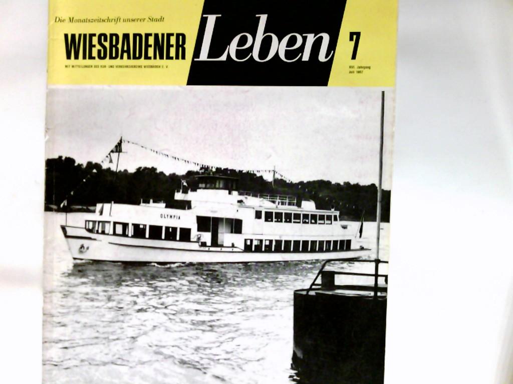 Wiesbadener Leben : die Monatszeitschrift unserer Stadt. XVI Jahrgang   Heft 7