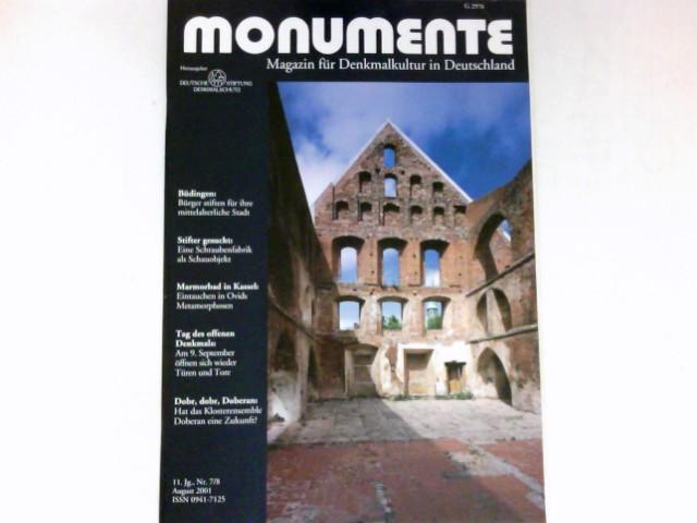 Monumente, Nr. 7/8 - 2001 : 11. Jg. Magazin für Denkmalkultur in Deutschland. Deutsche Stiftung Denkmalschutz.